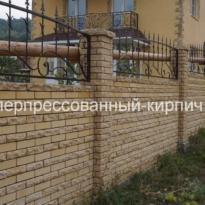 забор из двухстороннего кирпича
