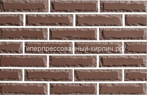 Кирпич коричневый, рустированный кирпич, кирпич крымский, поверхность крымский