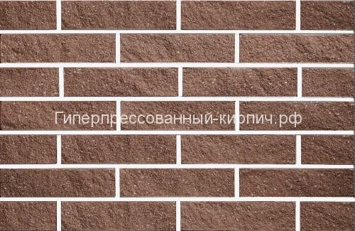 кирпич коричневый мраморный, плоский скол, коричневый рваный