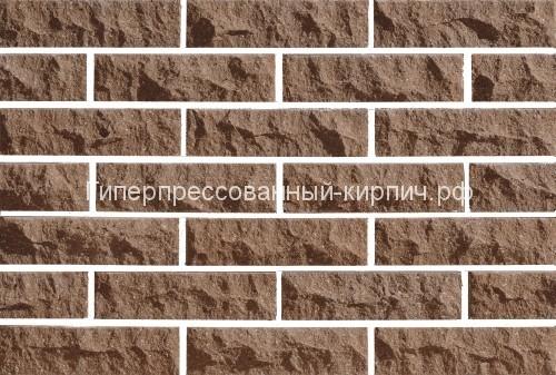 Кирпич коричневый скала, кирпич коричневый колотый, рваный