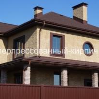 дом из колотого кирпича
