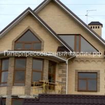 кирпич облицовочный желтый и коричневый фото дома