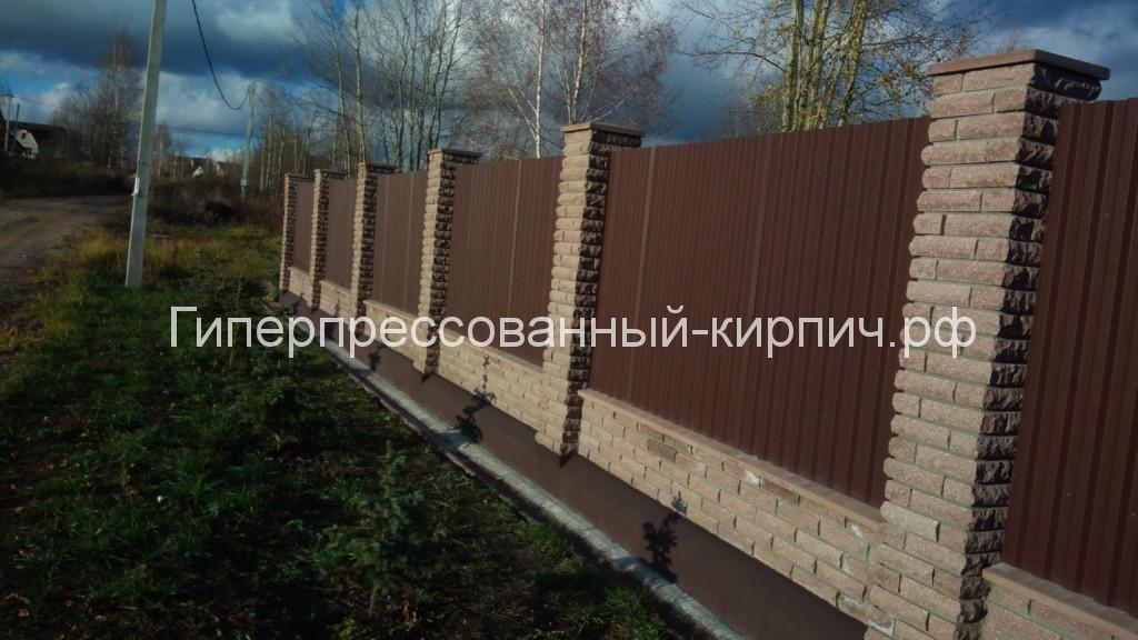 забор, фасад, кирпич, камень, профнастил, ложок, колотый, угловой